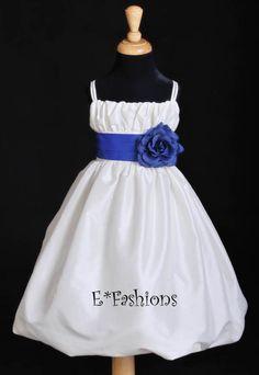 IVORY ROYAL BLUE WEDDING FLOWER GIRL DRESS 2 4 6 8 10  Keywords: #royalblueweddings #jevelweddingplanning Follow Us: www.jevelweddingplanning.com  www.facebook.com/jevelweddingplanning/