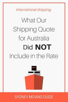 Shipping Quote New Our Shipping Quote From When We Moved To Australia From The Usa