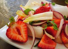 Strawberry Endive Salad with Tamari Lime Dressing via Garlic Girl.