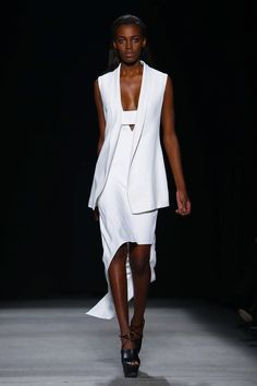 Narciso Rodriguez Ready To Wear Fall Winter 2015 New York...Wow beautiful details for that modern bride. Try different combinations of embellishments to create that ultimate bridal look. Be open for suggestions from your dressmaker.