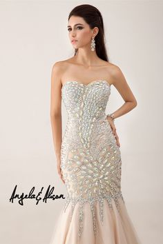 nude sparkly 2014 prom dress from AE dresses