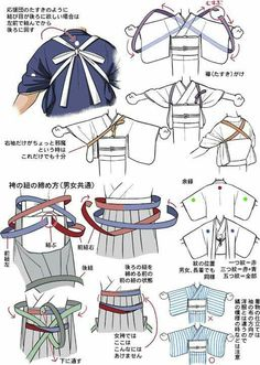 tanuki☼kimono — About Men and Women Hakama, by Kaoruko Maya. Japanese Costume, Japanese Kimono, Japanese Outfits, Japanese Fashion, Japanese Clothing, Samurai, Kleidung Design, Poses References, Kimono Pattern