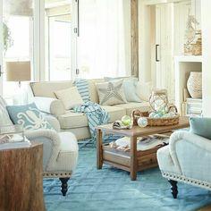 Neutral Coastal Living Room. | Living Rooms | Pinterest | Coastal ...