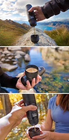 Minipresso GR is the Amazon Coffee, Espresso Shot, Thru Hiking, Backpacking Food, Travel Gadgets, New Flavour, Coffee Beans, Espresso Machine, The Great Outdoors