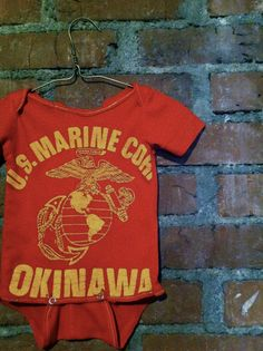 Upcycled Tee Onesie: U.S. Marine Corp