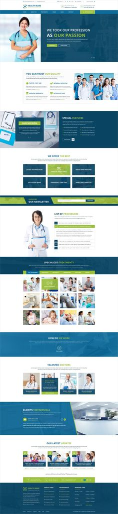 Health kare is an unique and modern #PSD template for #medical practices, #dentists, doctors, hospitals or healthcare clinics websites with 3 homepage layouts and 17 well managed PSD pages download now➩ https://themeforest.net/item/health-kare-professional-medi-care-website-template/19395859?ref=Datasata