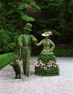 16 Creatively Designed Topiary ideas - 101 Recycled Crafts 16 Creatively Designed Topiary ideas - 101 Recycled Crafts Original article a. Amazing Gardens, Beautiful Gardens, Beautiful Flowers, Topiary Garden, Topiaries, Public Garden, Dream Garden, Yard Art, Garden Inspiration