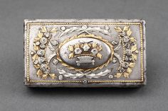 Russian Tula Steel Gold and Silver Mounted Pocket Snuff Box
