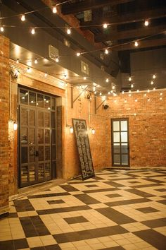 Brooklyn Wedding at the Wythe Hotel from Brklyn View Photography Wythe Hotel, Warehouse Living, Bistro Lights, Barn Wedding Decorations, Aisle Decorations, Warehouse Wedding, Yosemite Wedding, Exposed Brick, Wedding Venues