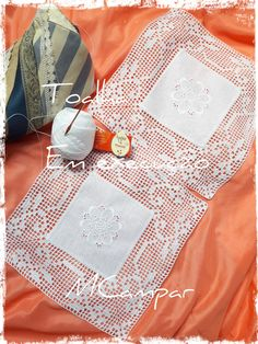 Crochet Lace Edging, Crochet Squares, Filet Crochet, Crochet Tablecloth, Doilies, Table Runners, Diy And Crafts, Sewing, Knitting