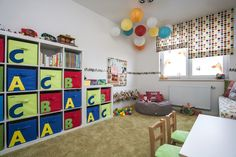 detska izba Playroom Organization, Organized Playroom, Bali, Kids Room, Interior Design, Rugs, Pretty, Home Decor, Nest Design