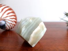 Vintage alabaster paperweight by lestrictmaximum on Etsy