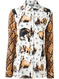 Shop Fausto Puglisi horse print shirt.
