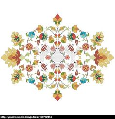 artistic ottoman pattern series thirty three
