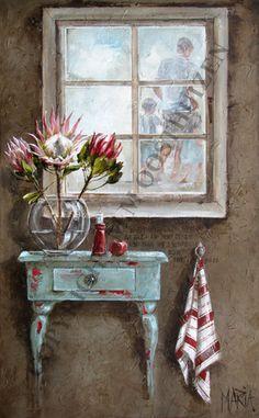Desire 900 x 1500 Colorful Paintings, Beautiful Paintings, Watercolor Paintings, Original Paintings, Stella Art, Protea Art, Cottage Art, Bathroom Art, Bible Art