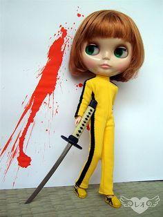 """Blythe as the Bride from """"Kill Bill"""""""