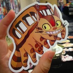 Almost sold out of these cuties !  #artistoninstagram #art #artistalley #stickers #catbus #ghibli