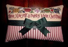 finished completed cross stitch ornament Lizzie Kate A MERRY LITTLE CHRISTMAS     eBay