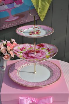 PiP Studio pink heart plate stand