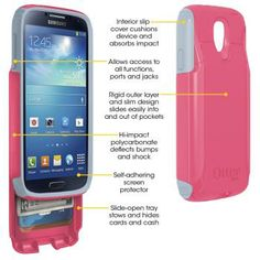 OtterBox Commuter Series Case with wallet for Samsung GALAXY S4. GALAXY S4 case. This is too perfect!