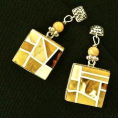 Baltic butter amber earings