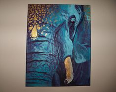 blue elephant paintings - Google Search
