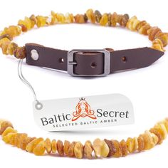 Baltic Secret Amber Flea and Tick Collar for Dogs and Cats / Natural Flea Prevention Control and Treatment / Authentic Baltic Amber 50% Higher in Value and Effectiveness *** You can find out more details at the link of the image.