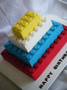 Lego birthday cake. Both my 6 year old nephew and 35 year old brother would love this.