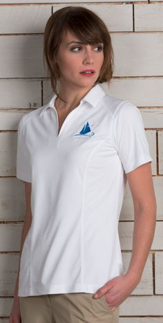 85005fa0993 This restaurant polo shirt is fitted for the ladies with front seam  details. It also. SharperUniforms.com