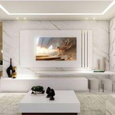 Living Room Tv Unit Designs, Design Living Room, Design Bedroom, Bedroom Ideas, Modern Tv Room, Living Room Modern, Modern Closet, Barn Living, Small Living