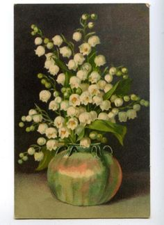 Lily of the Valley in Vase By C. KLEIN vintage PC