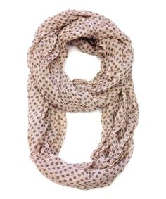 Look what I found on #zulily! Blush Polka Dot Infinity Scarf by East Cloud #zulilyfinds