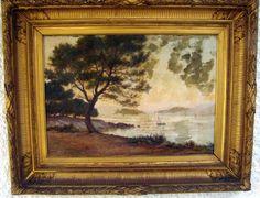 «pins Parasols Dans Les Dunes Du Golfe Juan» F.daveau Huile/toile 19ème , ARTE TRES GALLERY, Proantic