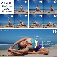 ✨PARIVRTTA JANU SIRSASANA✨or Revolved Side Angle Pose is Day 15 of #splits30 challenge! ‍♀️This sequence shows you how to get into the pose, and also what to do once you're in the pose  . BEGINNER'S TIP ✅ •Do not feel obligated to go past step 5 or 6. Stop wherever is enough for you, and use your core to hold the arm overhead. •If you are having a hard time grabbing your foot in step 5, then bend the knee, and keep your shoulder on the inside of the knee, while still holdi...