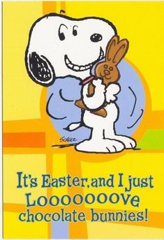 Charlie Brown Y Snoopy, Snoopy Love, Snoopy And Woodstock, Peanuts Cartoon, Peanuts Snoopy, Peanuts Comics, Hoppy Easter, Easter Bunny, Easter Cats