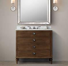 Maison Powder Room Vanity Sink - for P's bathroom Furniture Vanity, Bathroom Furniture, Bathroom Ideas, Bathroom Vanities, Remodel Bathroom, Bath Ideas, Antique Furniture, Modern Furniture, Bathroom Plants