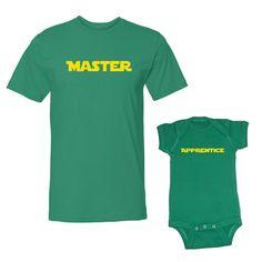 We Match!™  Master & Apprentice T-Shirt & Baby Bodysuit Set