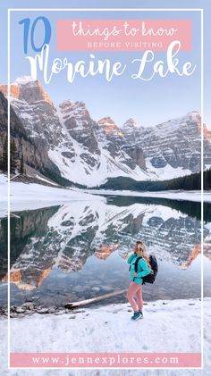Moraine Lake in Lake Louise, Canada is amazing, but here are 10 things you need to know before visiting. #morainelake #lakelouise #canada