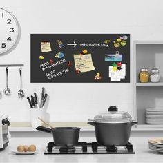 SPECIAL PRICE-adhesive magnetic board sheet wall sheet blackboard chalkboard-black-100x50 including 2 pcs chalk: Amazon.de: Kitchen & Home