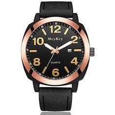 Howstar Wrist Watch Waterproof Men's Fashion Leather Stainless Steel Sport Date Quartz Wrist Watch ,Fashion #HealthMonitors