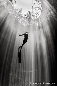 underwater diving - great shot!