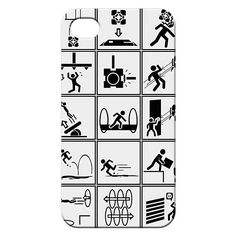 Portal 2 Chamber Squares iPhone 4 Case
