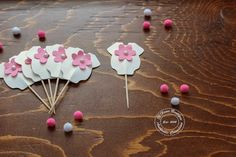 Cupcake topper , baby dress, baby shower cupcake topper, welcome baby cupcake topper Engagement Photo Props, Engagement Party Decorations, Bridal Shower Decorations, Nautical Banner, Cute Baby Dresses, White Baby Dress, Baby Shower Cupcake Toppers, Welcome Baby, Pink Flowers