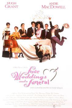 Cuatro bodas y un funeral (Four Weddings and a Funeral), de Mike Newell, 1994