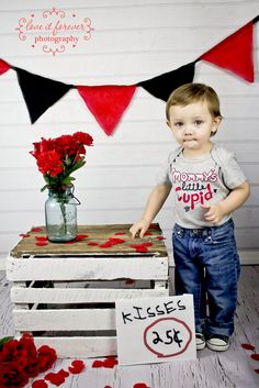 valentine's session with an adorable little man! (really cute idea)