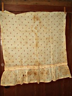 The Gatherings Antique Vintage - Early 19th C to 1850's Printed Fine Muslin Remnant Fabric Apron Piece, $35.00 (http://store.the-gatherings-antique-vintage.net/early-19th-c-to-1850s-printed-fine-muslin-remnant-fabric-apron-piece/)