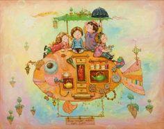 Милые картины художницы Екатерины Дудник (118 работ)