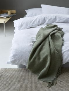 Wrap yourself in the soft wool that will keep you snug and warm in those cold winter months. The wool blanket is certified by Woolmark – the world's best-known textile quality brand. Scandinavian Bedroom, Winter Months, Keep Warm, Wool Blanket, Textiles, Blankets, Cold, Design, Blanket