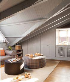 Buhardillas: las 11 mejores de El Mueble Ideas Armario, Made To Measure Furniture, Decoration, Ideal Home, Patio, Ceiling Lights, Interior Design, Outdoor Decor, Kitchen