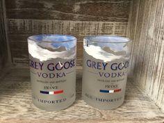 Grey Goose rocks-tumbler glasses upcycled/repurposed by Bottleford on Etsy